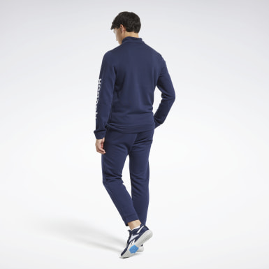 Men Fitness & Training Blue Training Essentials Linear Logo Track Suit