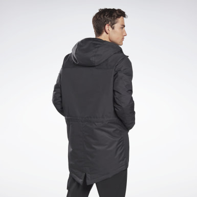 черный Парка Outerwear Urban Fleece