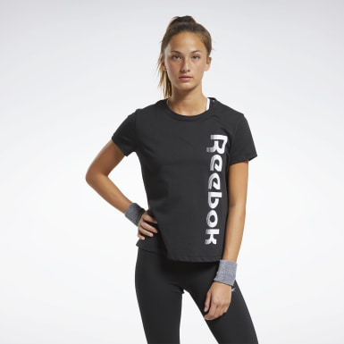 Frauen Dance Training Essentials Graphic T-Shirt Schwarz