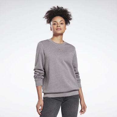 Women Classics Grey Classics Washed Crew Sweatshirt