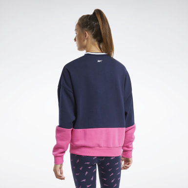 Kvinder Fitness & Training Blue Training Essentials Logo Crew Sweatshirt