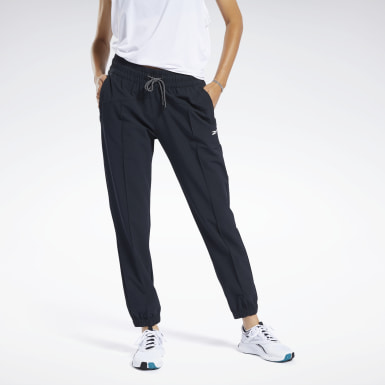 Women Fitness & Training Black Commercial Woven Pants
