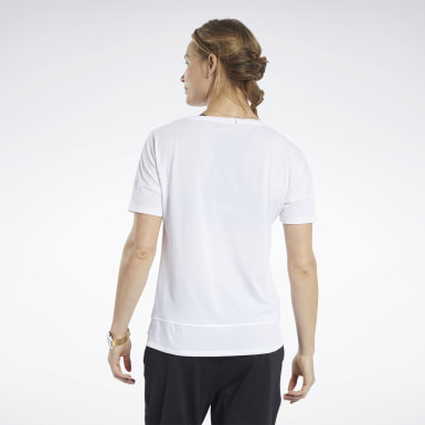 Women Fitness & Training White ACTIVCHILL+COTTON Tee