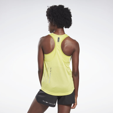 Kvinder Studio Yellow LES MILLS® Performance Tank Top