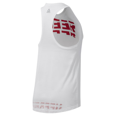 Women Training White WOR Meet You There Graphic Tank Top