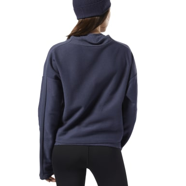 Women Fitness & Training Blue Training Essentials Sweatshirt