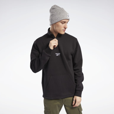 Men Classics Black Classics Half-Zip Sweater