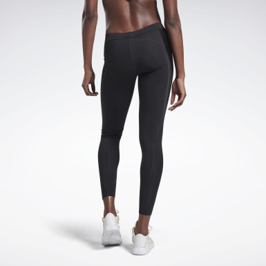 Women Fitness & Training Black VB Statement Tights