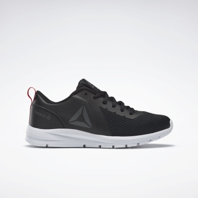 Boys Running Black REEBOK REERUSH