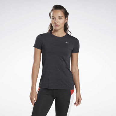 Playera One Series Running Activchill Negro Mujer Running