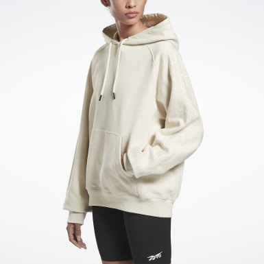 Women Training White VB Hoodie