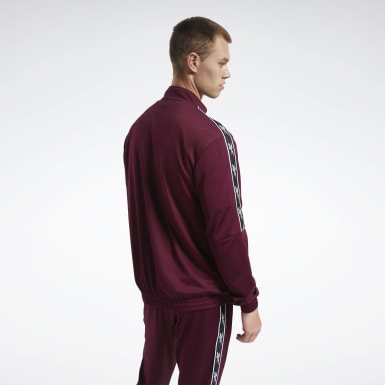 Men Classics Burgundy Classics Vector Tape Track Top