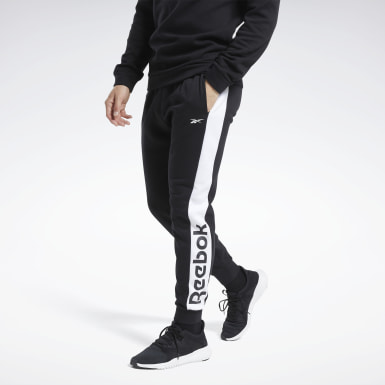 Männer Fitness & Training Training Essentials Linear Logo Joggers Schwarz