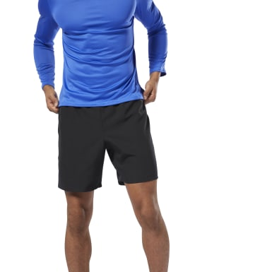 Men Running Black 7-Inch Short