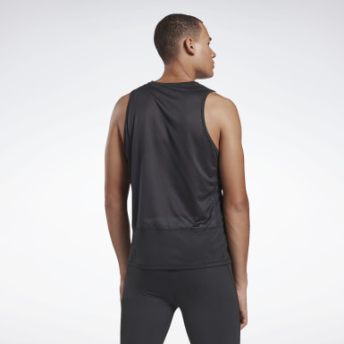 Men Running Black Running Essentials Singlet
