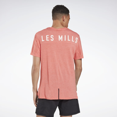 Men Studio Orange LES MILLS® ACTIVCHILL+COTTON Tee