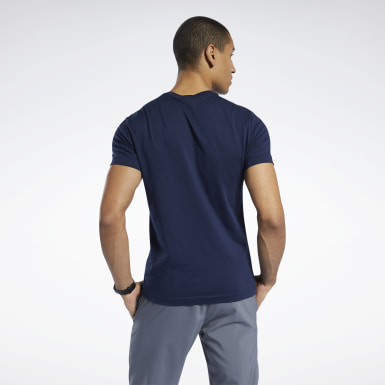 Mænd Fitness & Training Blue Graphic Series Reebok Stacked Tee