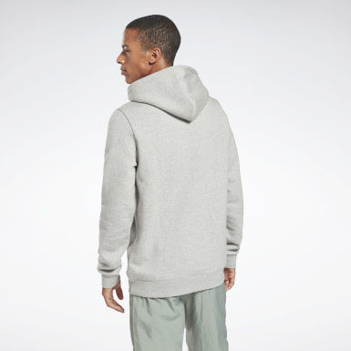Men Fitness & Training Grey Reebok Identity Fleece Hoodie