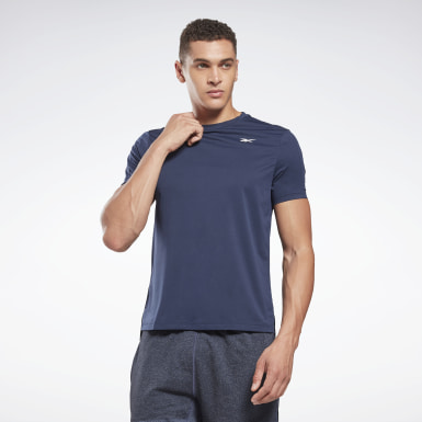 Men Cross Training Blue United By Fitness Perforated Tee
