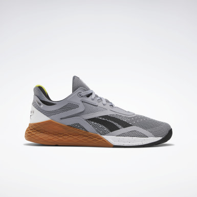 Men Training Grey Reebok Nano X Shoes