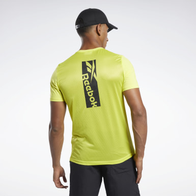 Men Hiking Yellow Workout Ready ACTIVCHILL Tee