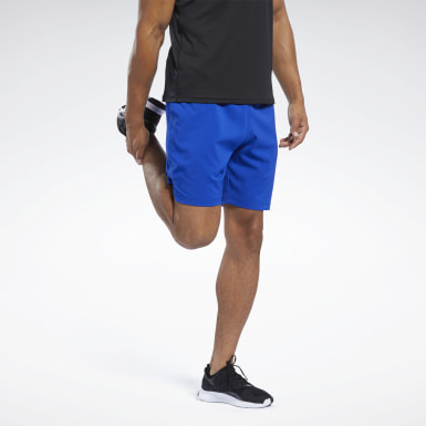 Men Cycling Blue Workout Ready Shorts