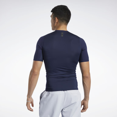 T-shirt United by Fitness Compression Blu Uomo HIIT