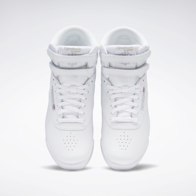 Girls Classics White Freestyle Hi Shoes - Grade School