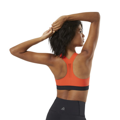 Women Combat Orange Reebok PureMove Bra