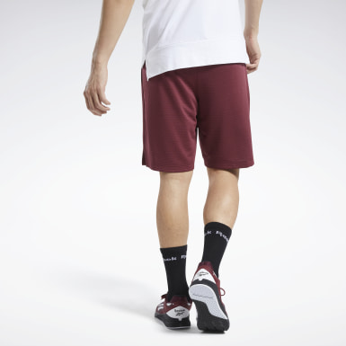 Men Fitness & Training Burgundy Workout Ready Shorts