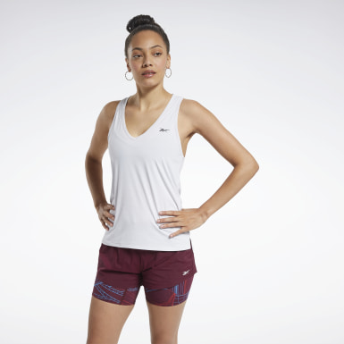 Women Cross Training White ACTIVCHILL Athletic Tank Top