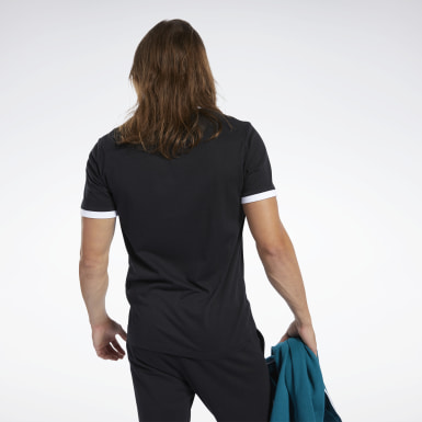 Remera Training Essentials Linear Logo Negro Hombre Entrenamiento Funcional