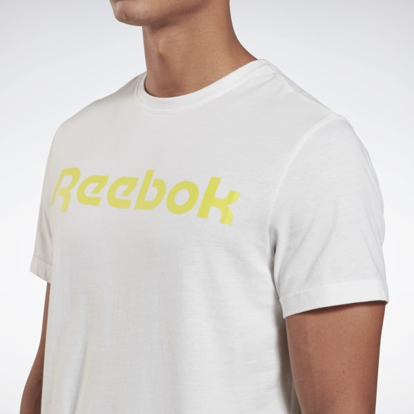 Reebok Womens T Shirt Short Sleeve TShirt Linear Logo Training Top Gym T-Shirt