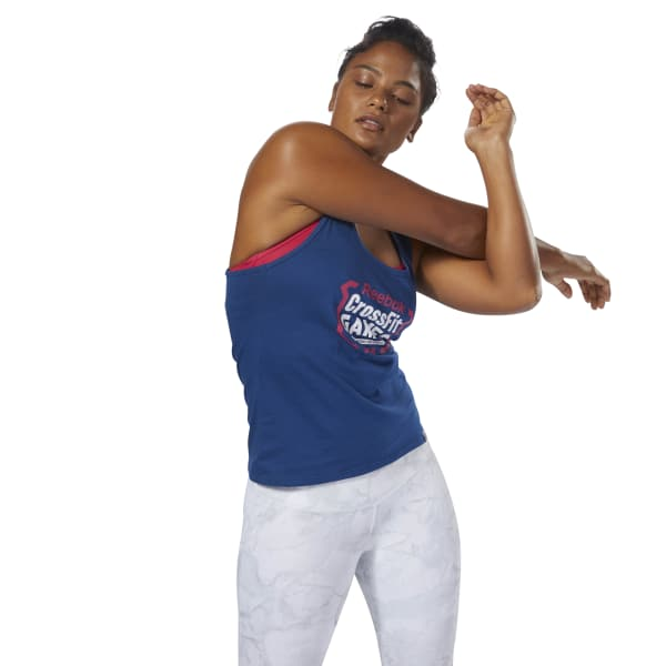 0129aa1931 Reebok CrossFit Games Tank - Blue
