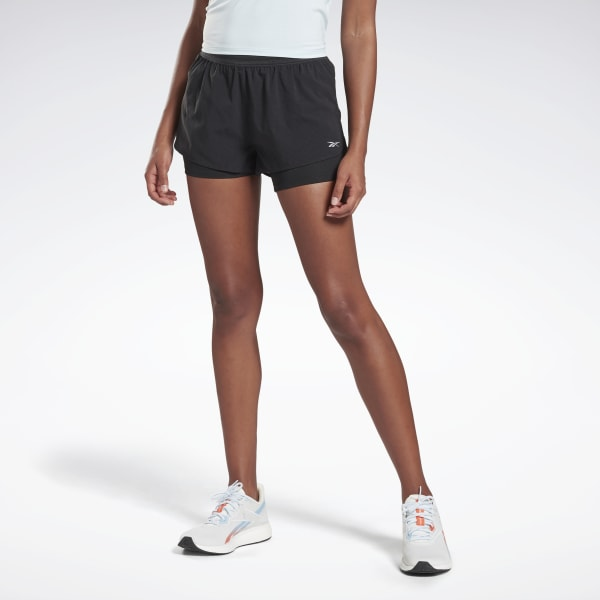 Reebok One Series Running Epic Two in One Shorts Schwarz