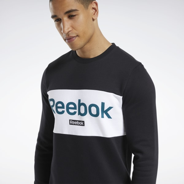 Reebok Training Essentials Linear Logo Sweatshirt Schwarz