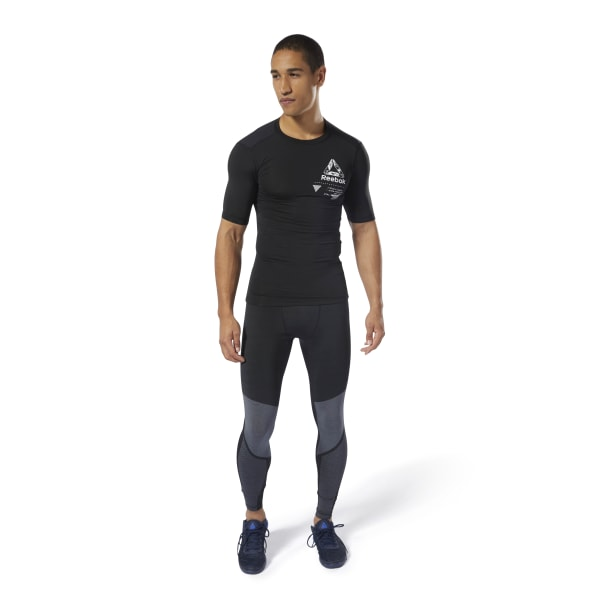 4acbedf6f57f21 Reebok Training Graphic Compression Tee - Black