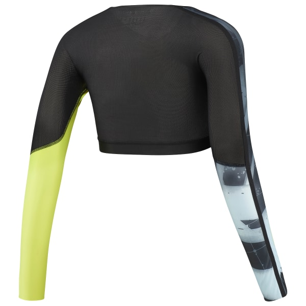 Reebok CrossFit Compression Cropped Long Sleeve Shirt