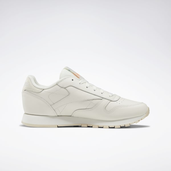 Reebok Womens Classic Leather Ivory Running Shoes Size 8.5