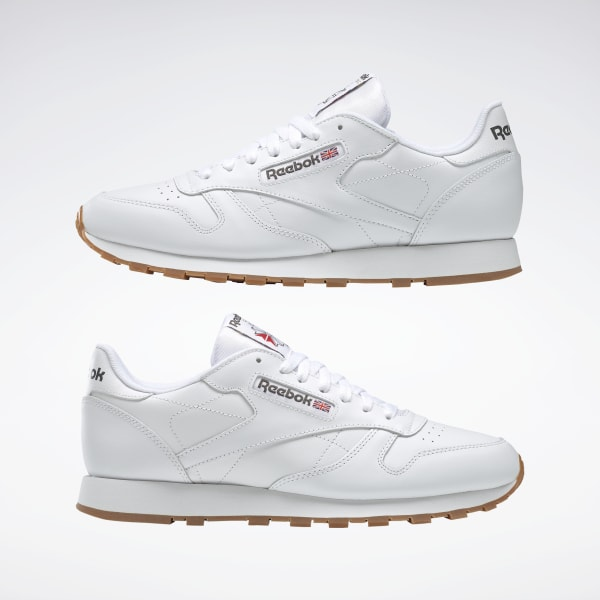 reebok classic leather shoes white