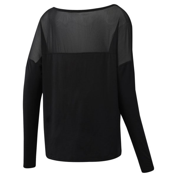 Camiseta F D Mesh Long Sleeve Top