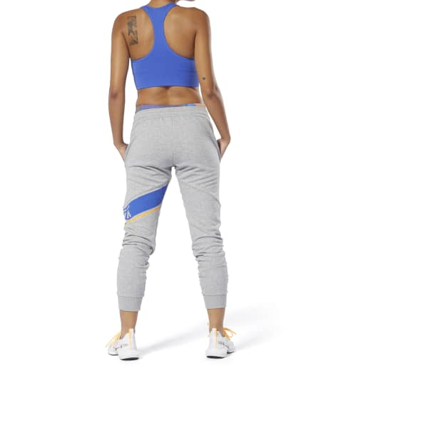 Reebok WOR Meet You There Graphic Womens Joggers Grey