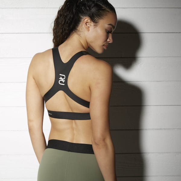 29f1028da6 Reebok Combat SmoothGrip Sports Bra - Black