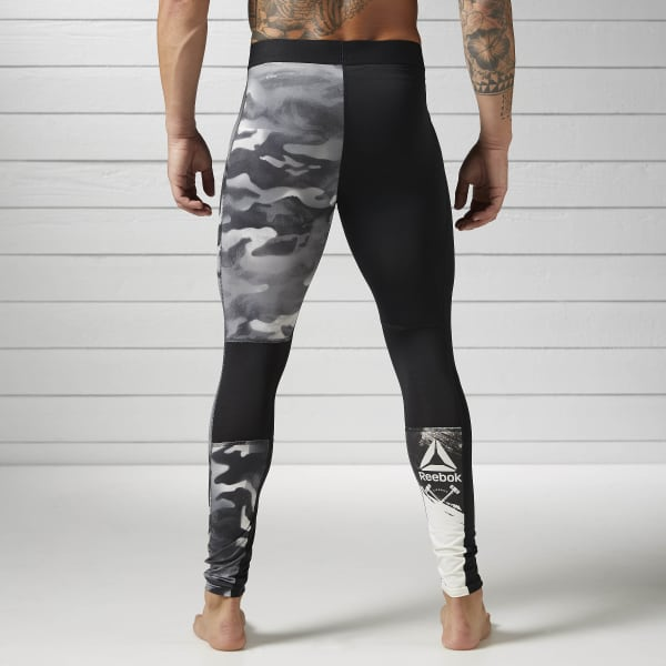 42e3195b3d6d1 Reebok Spray Camo Compression Tight - Black | Reebok Australia