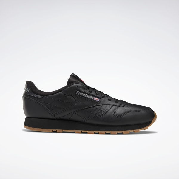 Reebok Classic Leather Men S Shoes Black Reebok Us