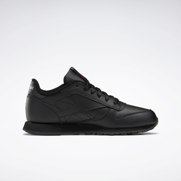 leather black shoes for school