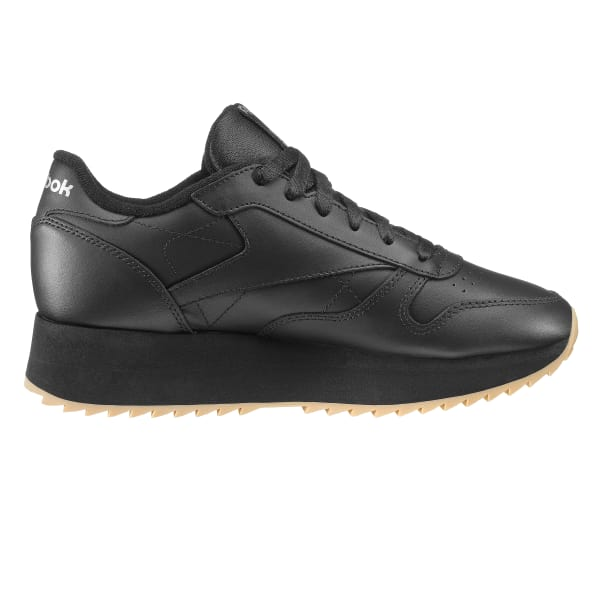 new products bf6a7 19a07 Reebok Classic Leather Double - Black   Reebok GB