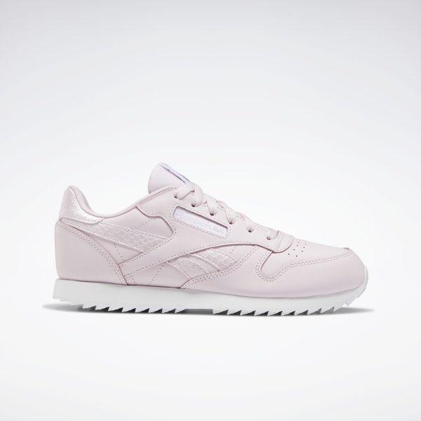 reebok classic pink and white