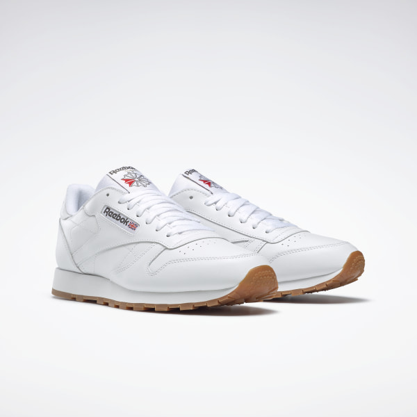 Reebok Classic Leather Trainers WhiteGum