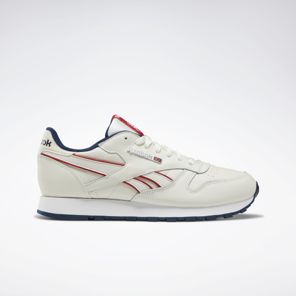 reebok classic leather white blue red